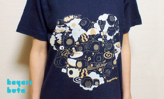 SUZURIのTシャツ 3noriさんが着てみた1 ズーム画像