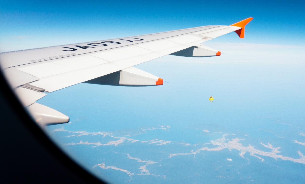 飛行機からの眺め その2