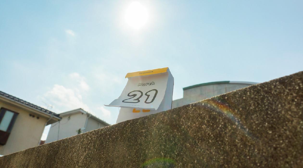 Typodarium 2015 風になびく日めくりカレンダー