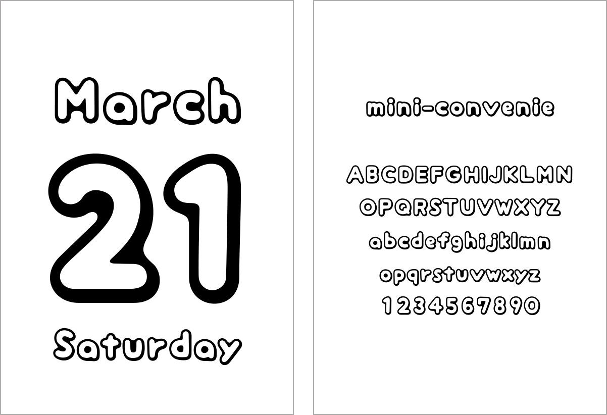 Typodarium カレンダー作成サンプル(miniyama)