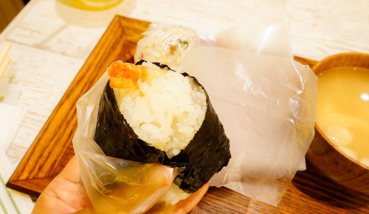 【おいしいな たのしいな 結び菜】【食レポ】一品目(天むす)