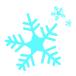 【冬の十勝牧場展望台へ徒歩でウォーキング】雪の結晶アイコン